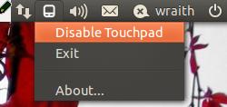Touchpad-Indicator - отключи/включи тачпад на ноутбуке