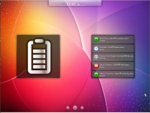 Kubuntu-mobile виджеты заряд батареи и сообщения