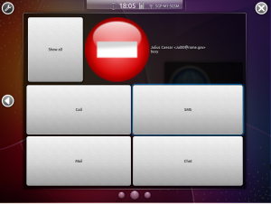 Kubuntu-mobile Расширеное меню