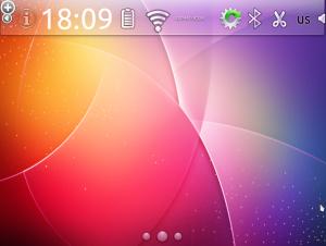 Kubuntu-mobile Верхняя панель