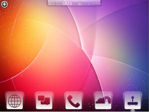Kubuntu-mobile Нижнее меню