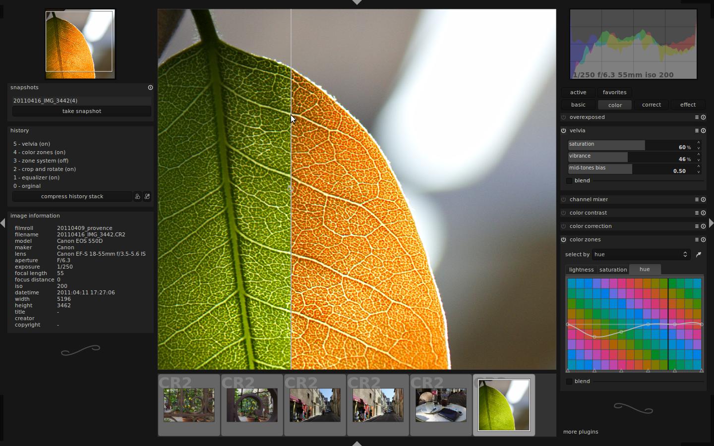 Обработка фото в линукс
